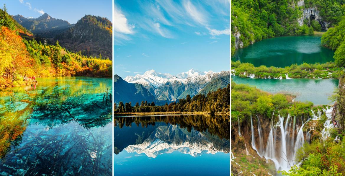 Vackra sjöar kommer i många former.