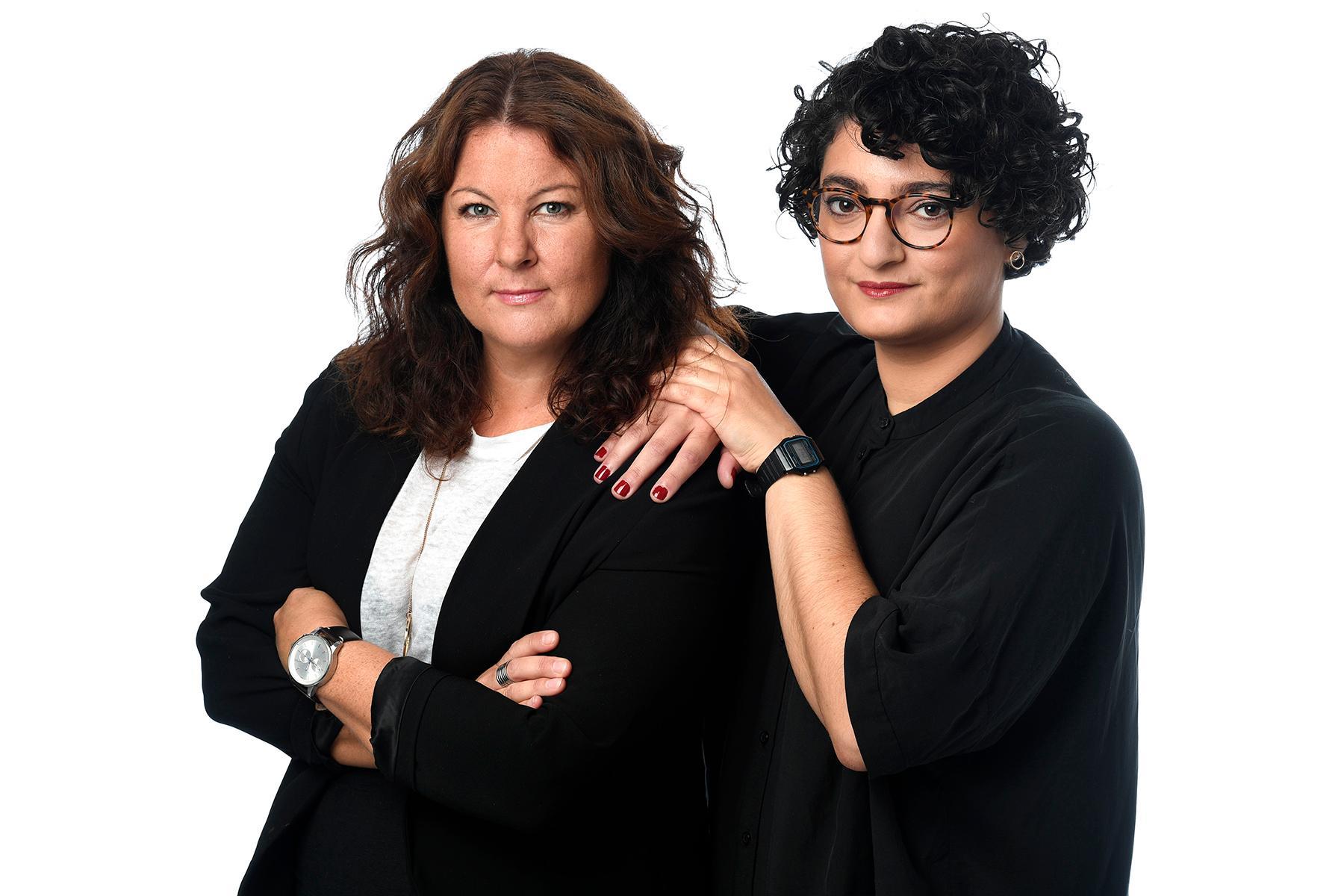 Jenny Ågren och Nivette Dawod.