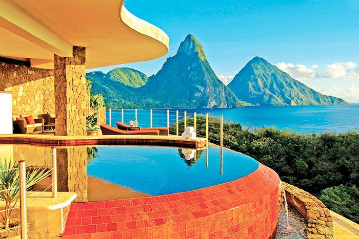 Jade mountain resort är en pärla i St Lucia.
