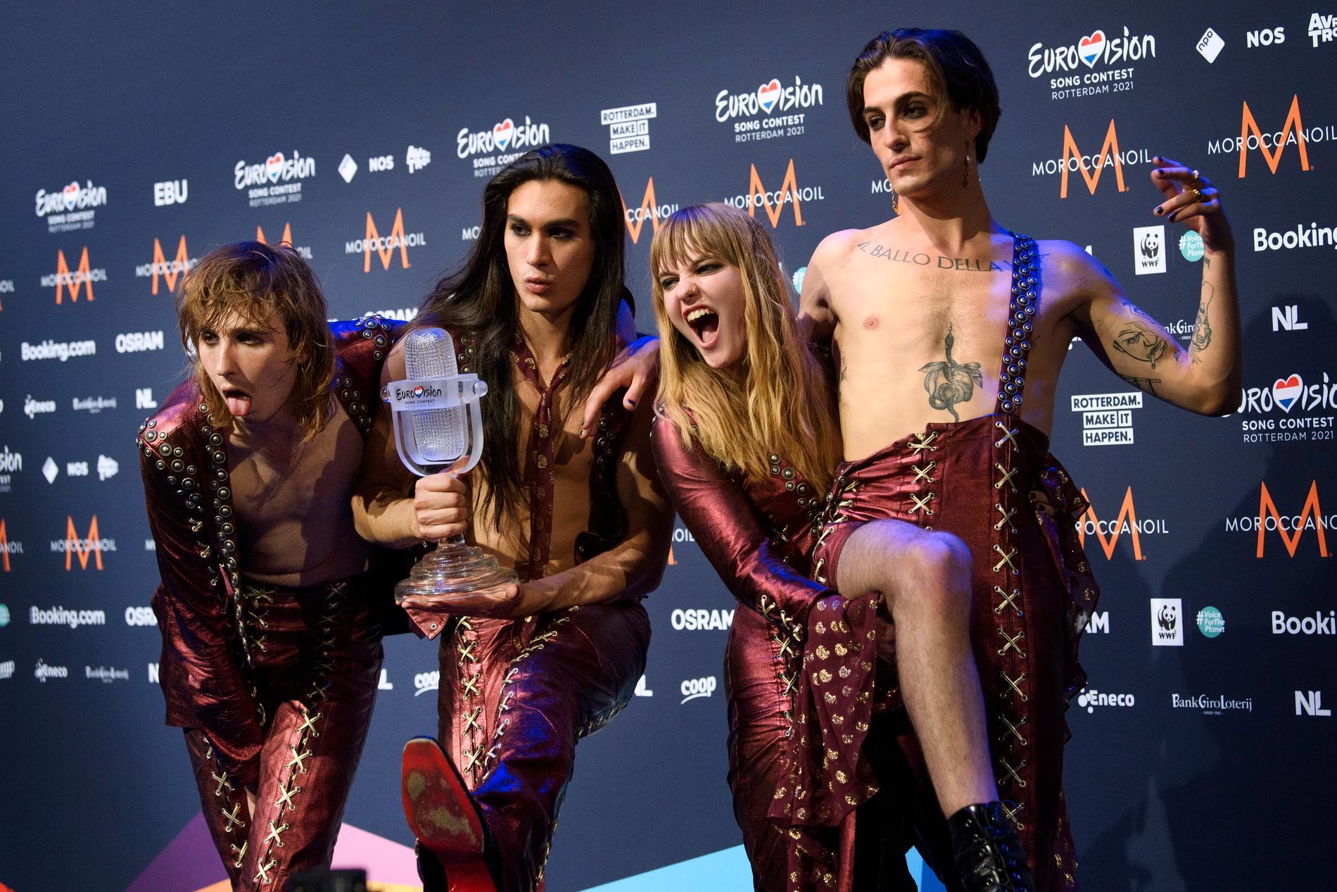 Måneskin från Italien vann finalen av Eurovision Song Contest i Rotterdam. Arkivbild.