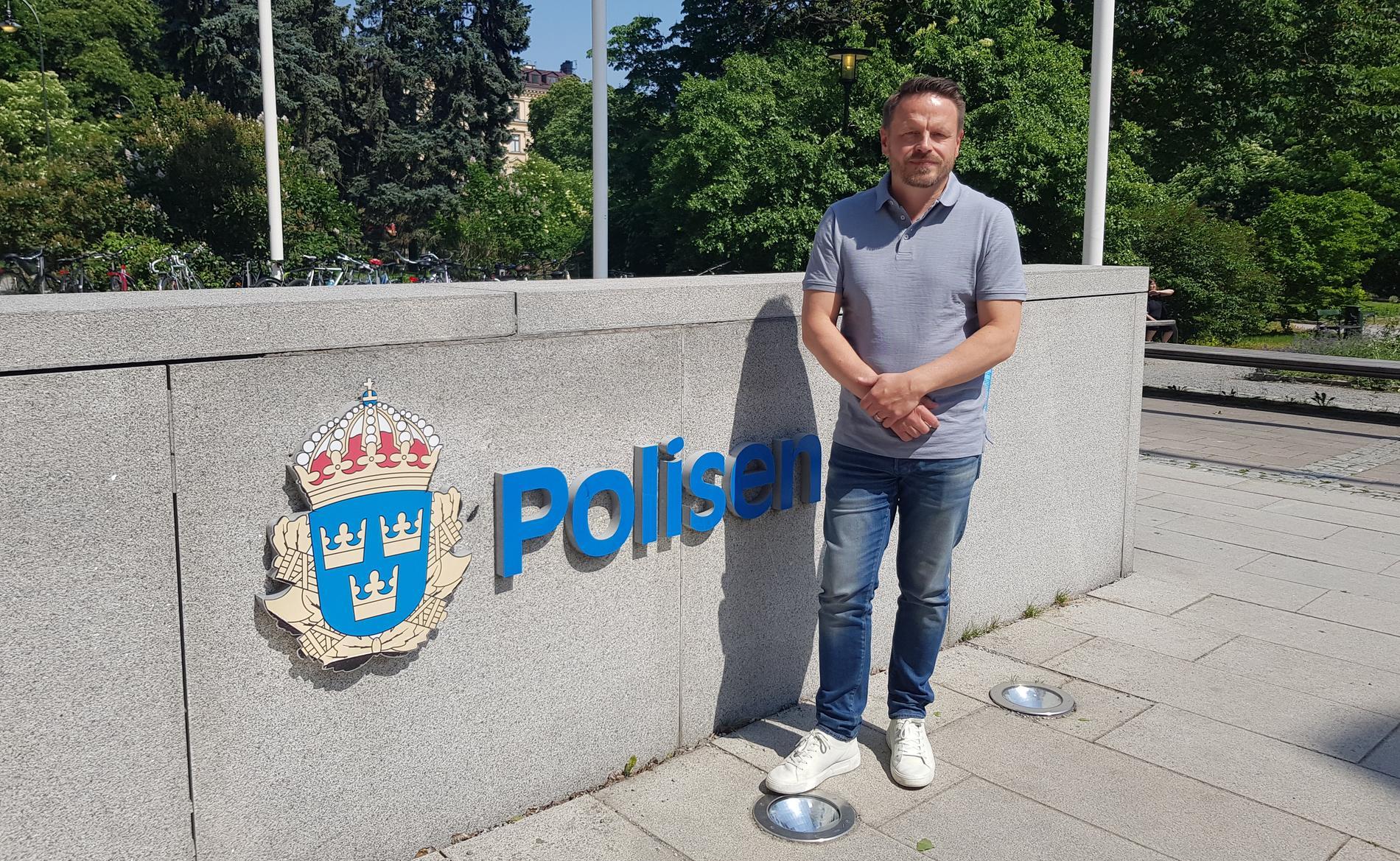 Magnus Sohlén, polisens utredningsledare i ärendet om penningtvättshärvan på växlingskontoret World Exchange.