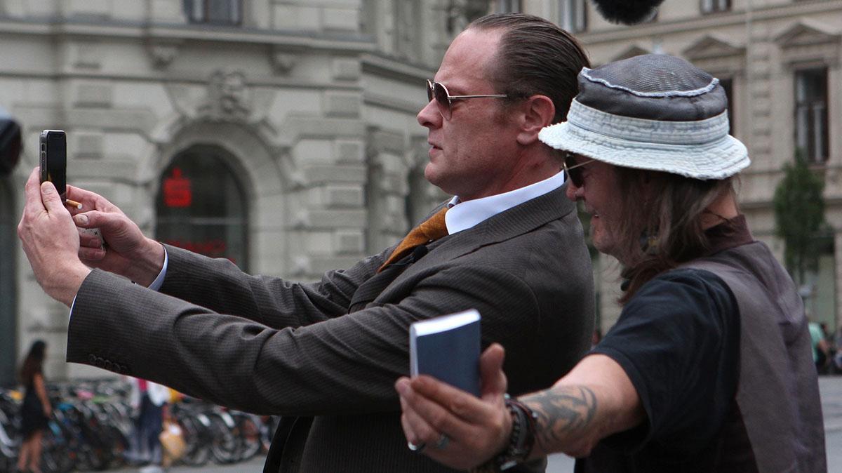 "Svenske Lars ""Jesus"" Cuzner under sitt performance."