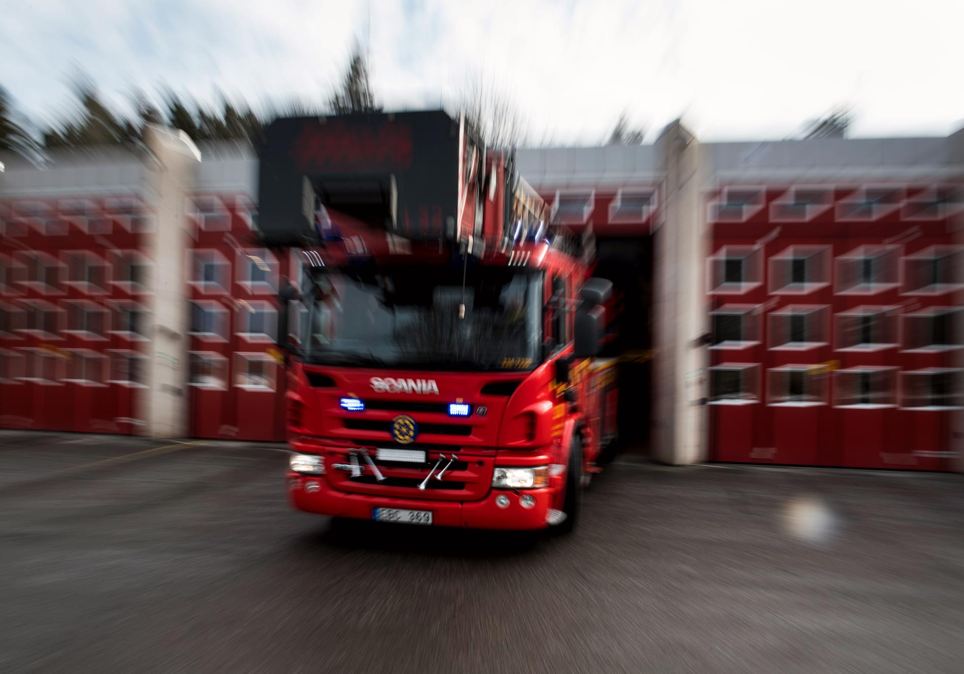 Det brinner på en lantbruksgård i Eslövs kommun. Arkivbild.