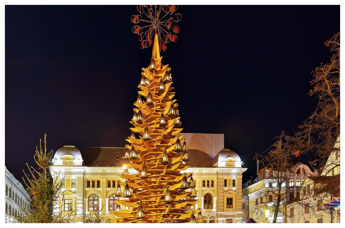 Julgran i Riga