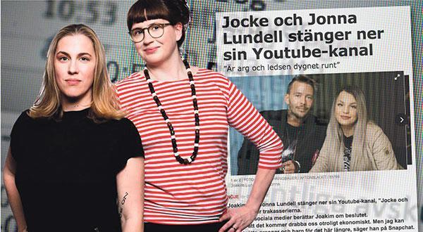 Petra Jankov & Johanna Stenius: I dagarna har vi kunna läsa om hur Sveriges populäraste Youtube-stjärnor Jocke och Jonna har tvingats stänga ner sin kanal på grund av de hot de får, både online och fysiskt – många av hoten kommer från barn.