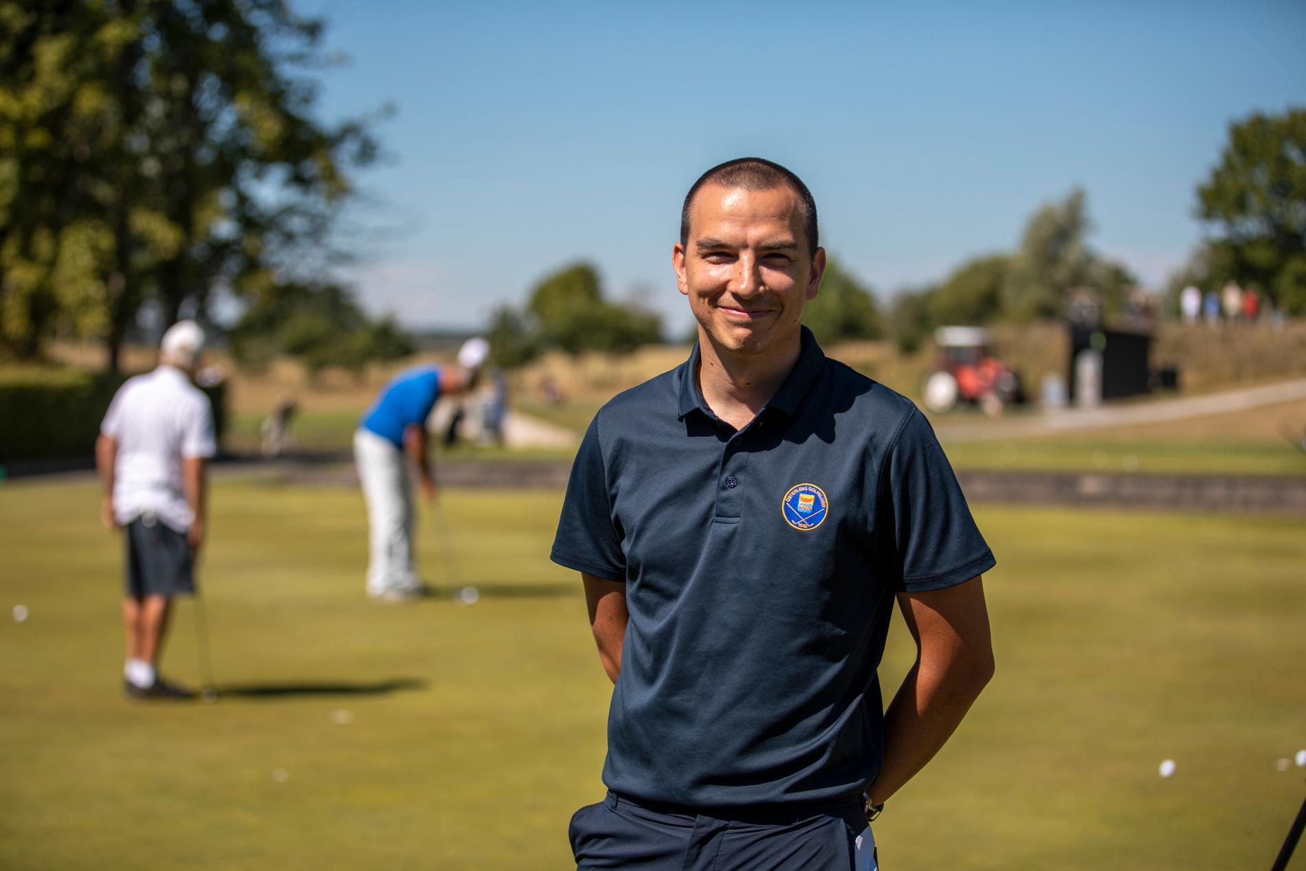 Mikael Törnberg, klubbchef på Österlens Golfklubb i Lilla Vik.