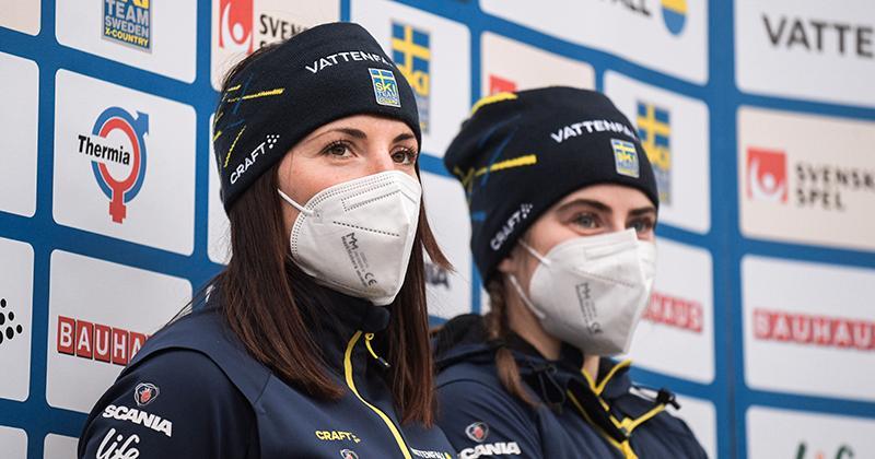 Charlotte Kalla och Ebba Andersson.